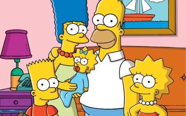 La famiglia Simpson: Bart, Marge, Maggy, Homer e Lisa