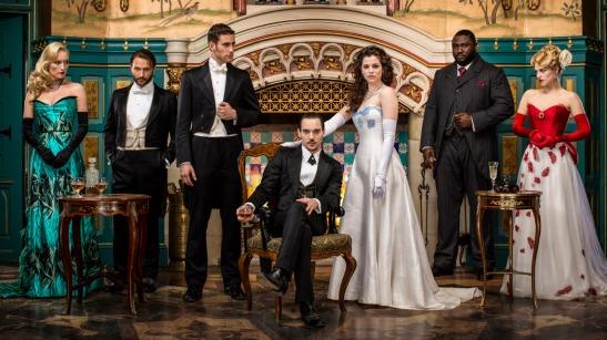 Da sinistra: Lady Jayne Wetherby, Abraham Van Helsing, Jonathan Harker, Dracula/Alexander Grayson/Vlad III, Mina Murray/Ilona, R.M. Renfield, Lucy Westenra