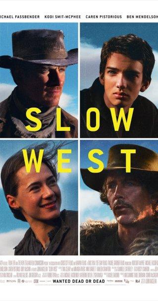 """Slow West"" (2015) di John Maclean, con Michael Fassbender, Ben Mendelsohn, Kodi Smit-McPhee, Rory McCann, Brooke Williams"